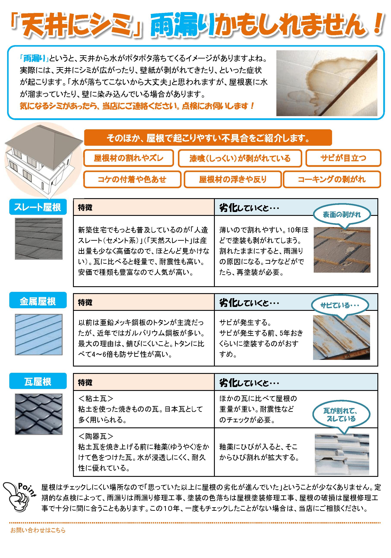 単価の高い仕事を獲得するチラシの使い方【屋根工事】